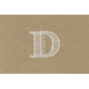 Toolbox Calendar- Sketchy Month Journal Card- December 6x4
