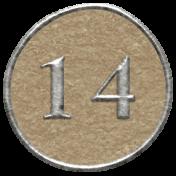 Toolbox Calendar- Dot Number 14 Brown