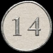 Toolbox Calendar- Dot Number 14 White