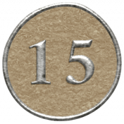 Toolbox Calendar- Dot Number 15 Brown