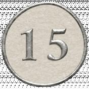 Toolbox Calendar- Dot Number 15 White
