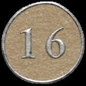 Toolbox Calendar- Dot Number 16 Brown