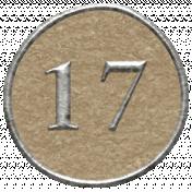 Toolbox Calendar- Dot Number 17 Brown