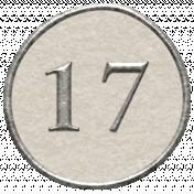 Toolbox Calendar- Dot Number 17 White