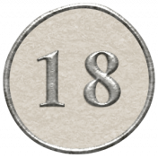 Toolbox Calendar- Dot Number 18 White