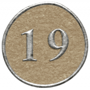 Toolbox Calendar- Dot Number 19 Brown