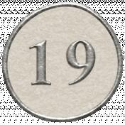 Toolbox Calendar- Dot Number 19 White