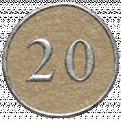 Toolbox Calendar- Dot Number 20 Brown