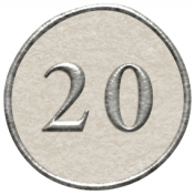 Toolbox Calendar- Dot Number 20 White