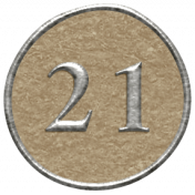 Toolbox Calendar- Dot Number 21 Brown