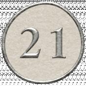 Toolbox Calendar- Dot Number 21 White