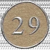 Toolbox Calendar- Dot Number 29 Brown