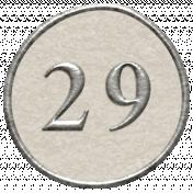 Toolbox Calendar- Dot Number 29 White