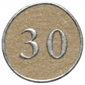 Toolbox Calendar- Dot Number 30 Brown
