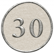 Toolbox Calendar- Dot Number 30 White