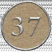Toolbox Calendar- Dot Number 37 Brown