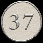 Toolbox Calendar- Dot Number 37 White