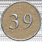 Toolbox Calendar- Dot Number 39 Brown