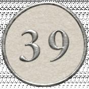 Toolbox Calendar- Dot Number 39 White