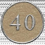 Toolbox Calendar- Dot Number 40 Brown