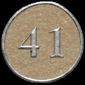 Toolbox Calendar- Dot Number 41 Brown