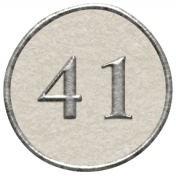 Toolbox Calendar- Dot Number 41 White