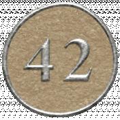 Toolbox Calendar- Dot Number 42 Brown