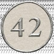 Toolbox Calendar- Dot Number 42 White