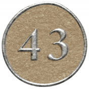 Toolbox Calendar- Dot Number 43 Brown