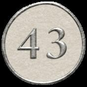 Toolbox Calendar- Dot Number 43 White