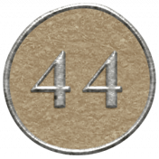 Toolbox Calendar- Dot Number 44 Brown