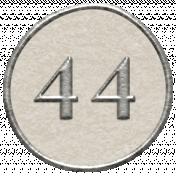 Toolbox Calendar- Dot Number 44 White