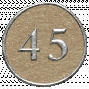 Toolbox Calendar- Dot Number 45 Brown