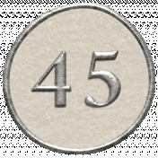 Toolbox Calendar- Dot Number 45 White