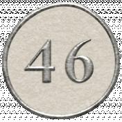Toolbox Calendar- Dot Number 46 White