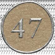 Toolbox Calendar- Dot Number 47 Brown