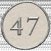 Toolbox Calendar- Dot Number 47 White