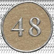 Toolbox Calendar- Dot Number 48 Brown