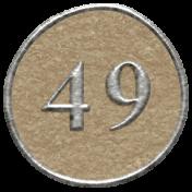 Toolbox Calendar- Dot Number 49 Brown