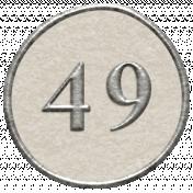 Toolbox Calendar- Dot Number 49 White