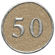 Toolbox Calendar- Dot Number 50 Brown