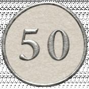 Toolbox Calendar- Dot Number 50 White