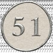 Toolbox Calendar- Dot Number 51 White