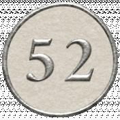 Toolbox Calendar- Dot Number 52 White