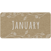 Toolbox Calendar- January Floral Date Tag 01