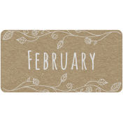 Toolbox Calendar - February Floral Date Tag 01
