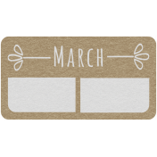 Toolbox Calendar- March Date Tag 01
