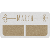 Toolbox Calendar- March Date Tag 02