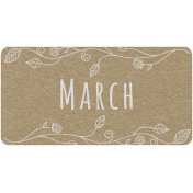 Toolbox Calendar- March Floral Date Tag 01