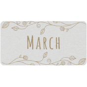 Toolbox Calendar- March Floral Date Tag 02